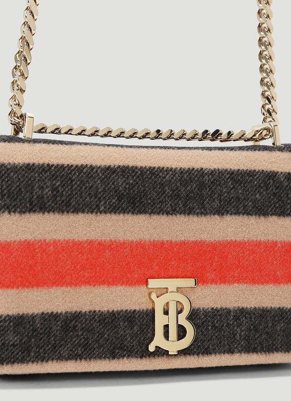 Burberry Lola Striped Wool Small Shoulder Bag 5