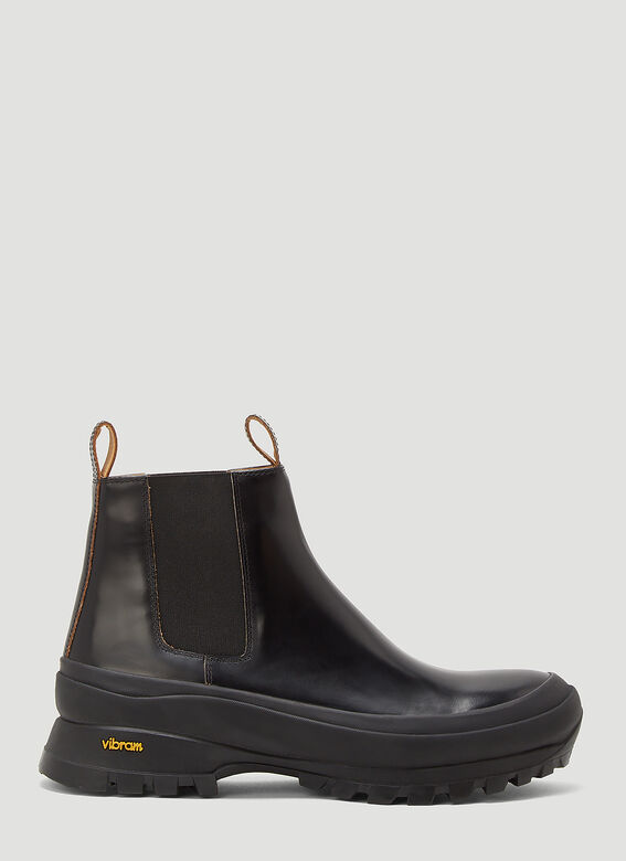 Jil Sander ANKLE BOOT - ANTICK 999 NERO+SUOLA GOMMA NERA 1