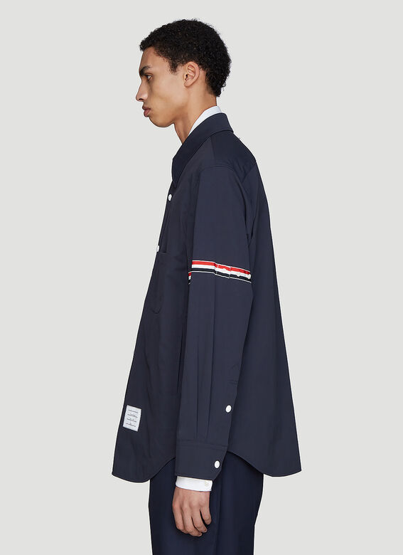 Thom Browne Snap Front Over-Shirt Jacket 3