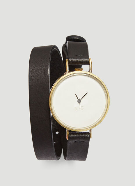 Nejicommu Double Strap Combine Wrist Watch