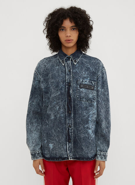 Miu Miu Stonewashed Denim Shirt
