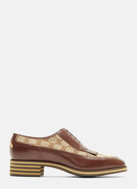 Gucci GG Leather Derby Shoes