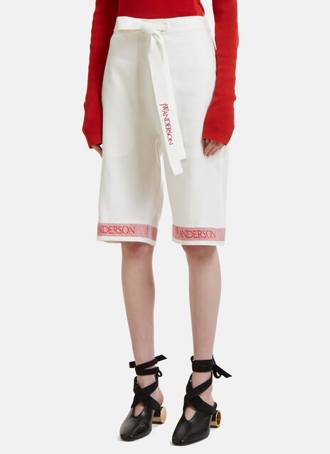 JW Anderson Logo Tea Towel Shorts