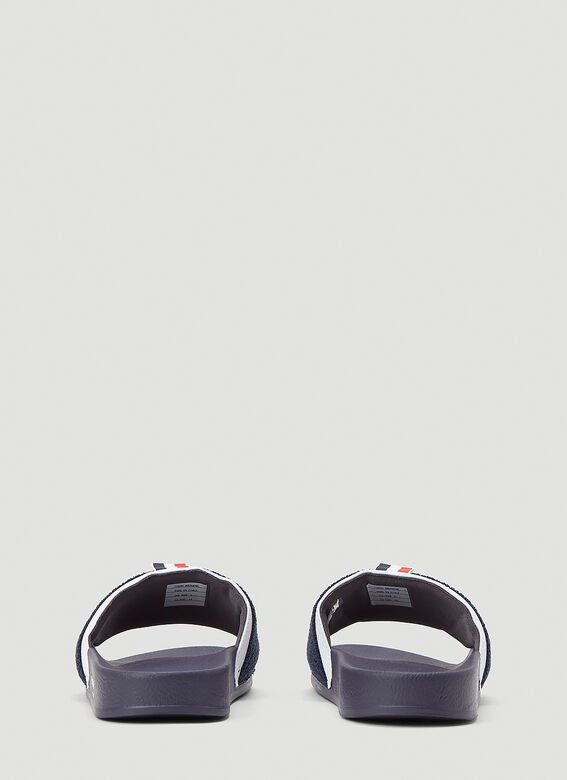 Thom Browne TERRY CLOTH POOL SLIDE IN RUBBER 4