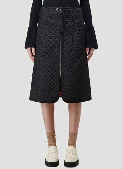 2 Moncler 1952 Quilted Skirt