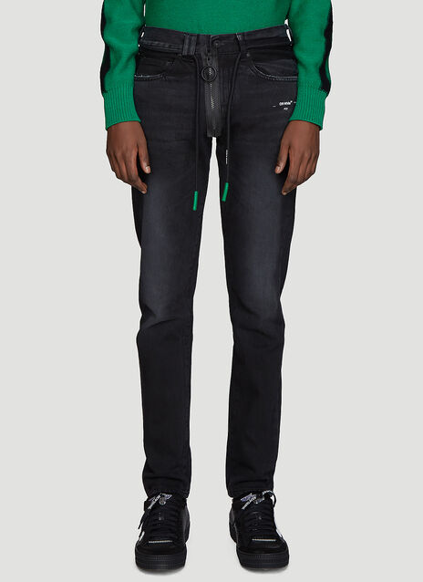 Off-White Slim Fit Back Dart Jeans