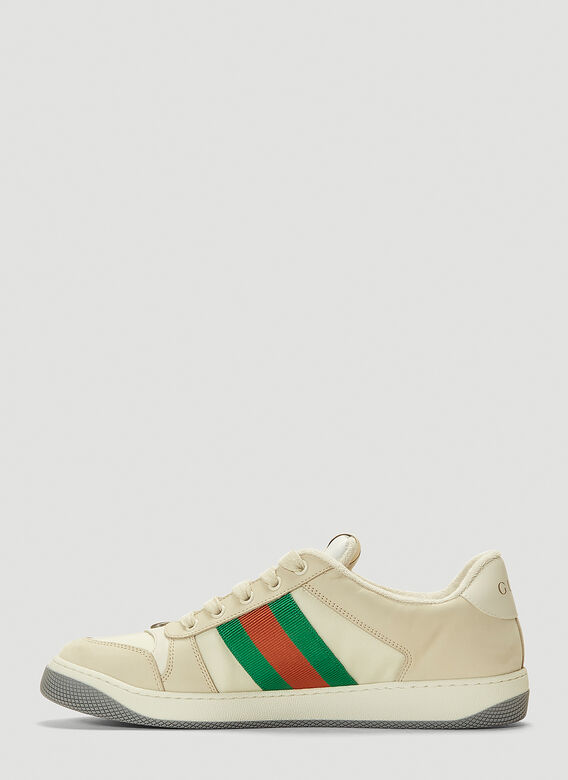 Gucci SCREENER TRAINERS NYLON AND LEATHER 3