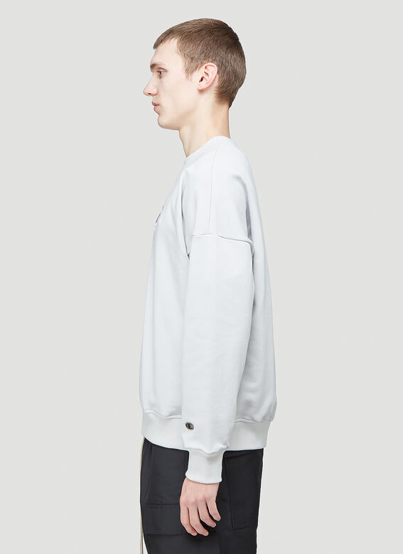 Rick Owens X Champion PULLOVER SWEAT (OYSTER) 3