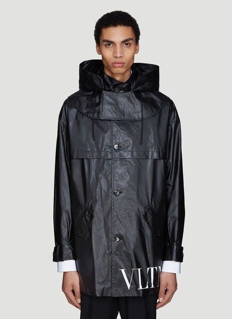 Valentino VLTN Waxed Trench Coat