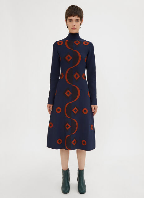 Marni Retro Jacquard Print Dress
