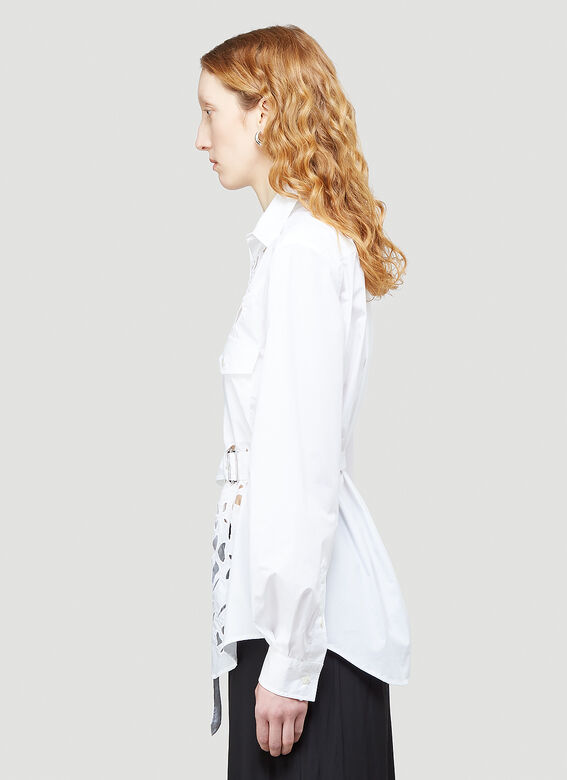 JW Anderson BELTED CUT-OUT BELL SLEEVE SHIRT 3