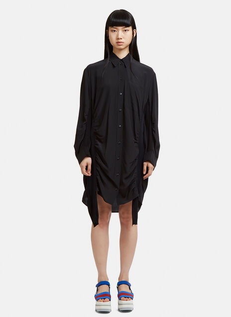 Stella McCartney Semi Sheer Patchwork Knit Dress