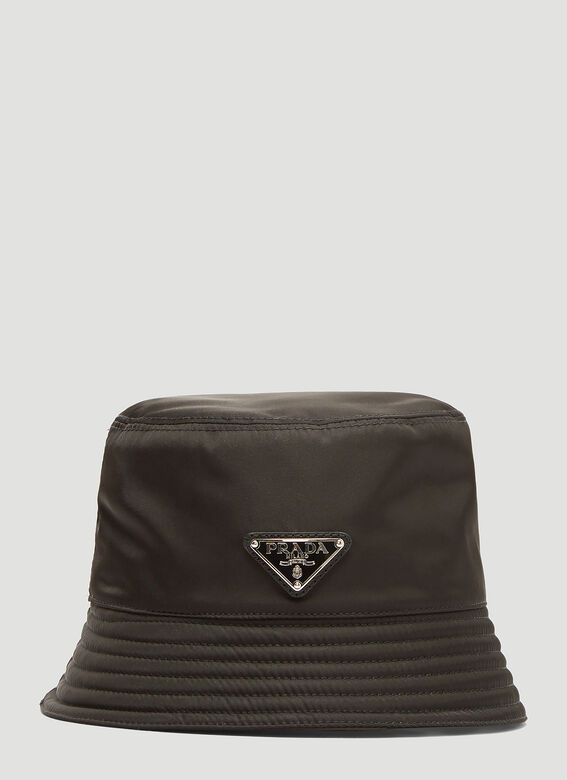 776a6137e1d3ef Prada Nylon Logo Bucket Hat in Black | LN-CC