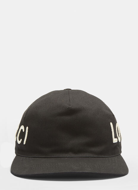 Gucci Gucci Loved Embroidered Baseball Cap