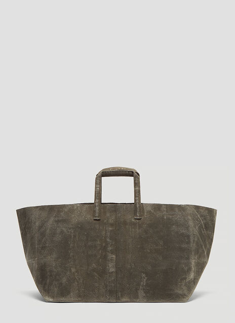 Funagata 010 Sideways Waxed Canvas Bag
