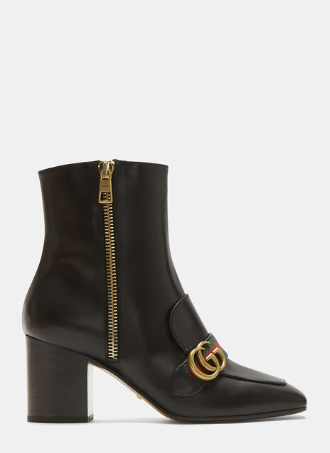 GG Mid-Heel Ankle Boot