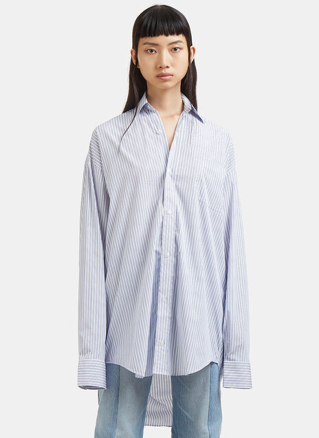 Oversized Popeline Striped Shirt