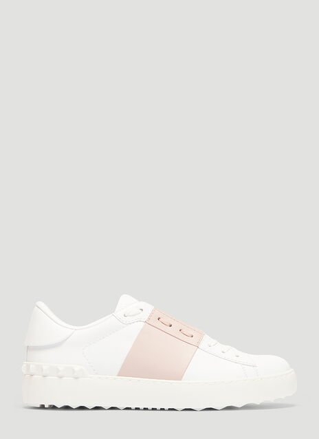 Valentino Open Leather Sneakers