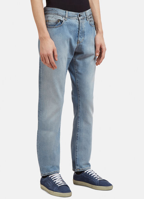 Saint Laurent Slim Fit Dirty Grease Jeans