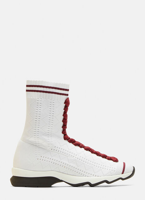 Fendi Sock Knit High-Top Sneakers