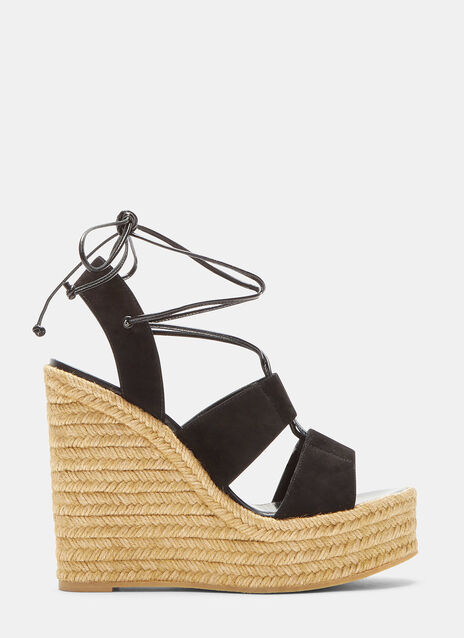 Saint Laurent Espadrille 95 Wedge Sandals