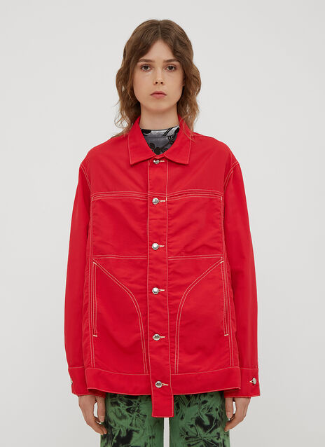 Eckhaus Latta Nylon Denim Jacket Shirt
