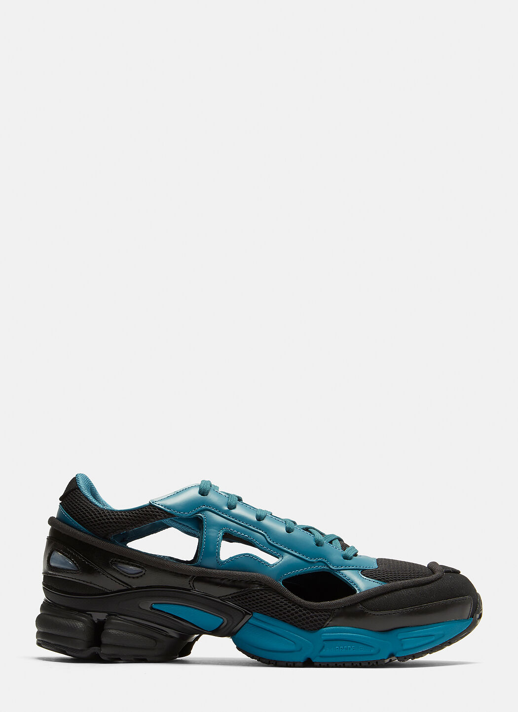 Black And Blue Replicant Ozweego Leather Sneakers adidas by Raf Simons aqcNkBo5em