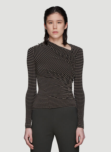 Atlein Jacquard Point Top