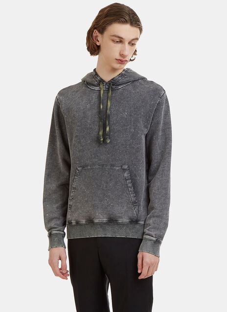 Saint Laurent Distressed Stone Washed Hooded Sweater