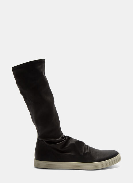Rick Owens Mastodon Leather Sock Sneakers