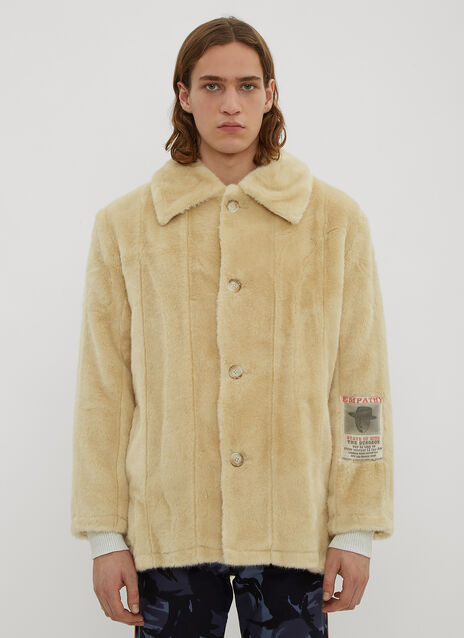 Martine Rose Faux Fur Car Coat