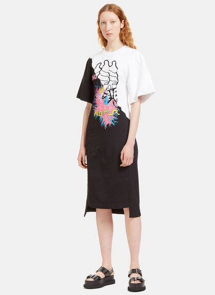 Buy Stitched Printed Panel Jersey Dress online