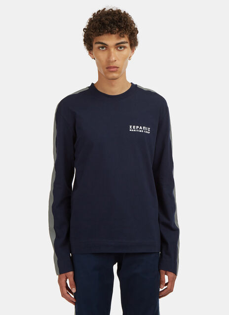 Serapis Long Sleeve Embroidered 3M Corporation T-Shirt