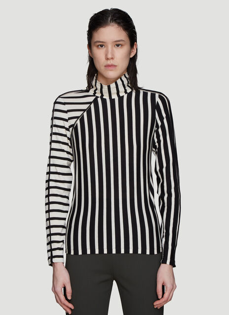 Atlein Striped Turtle Neck T-Shirt