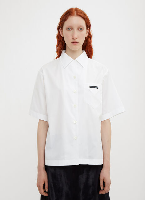 Prada Short Sleeve Logo Shirt