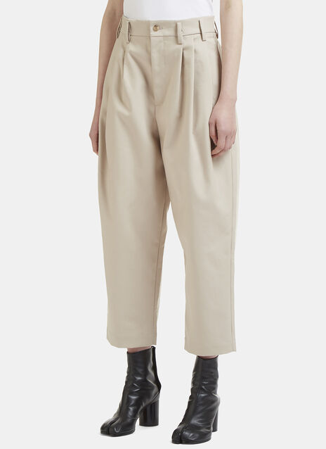 Hed Mayner High Waist Cropped Tailored Pants