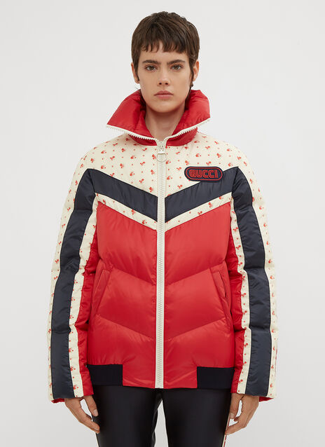 Gucci Floral Stripe Puffer Jacket