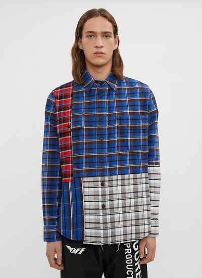 Off-White Reconstructed Check Print Shirt