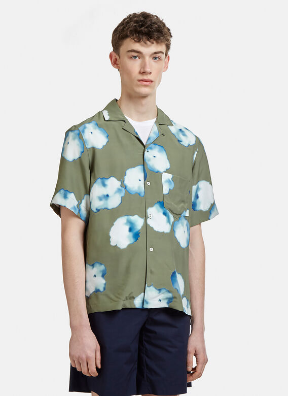 a92000cbb9 Acne Studios Elms Print Shirt in Black