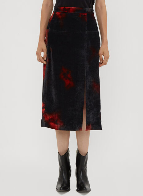 Altuzarra Electric Panel Velvet Skirt