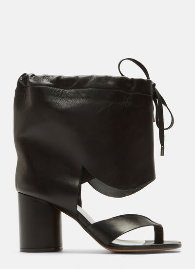 Maison Margiela Drawstring Cut-Out Tabi Boots