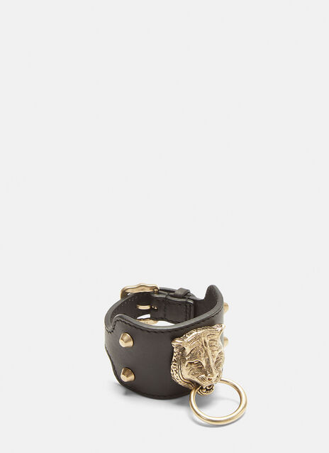 Gucci Leather Feline Cuff