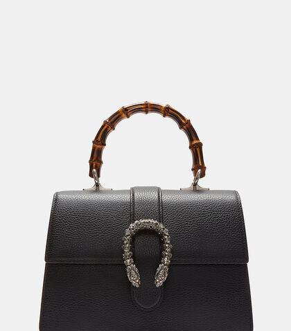 Dionysus Bamboo Top Handle Leather Bag