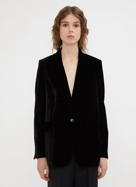 Stella McCartney Fluid Velvet Blazer Jacket