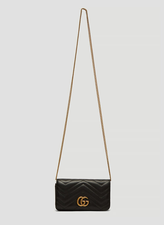 90b8e205878 Gucci GG Marmont Mini Chain Bag in Black