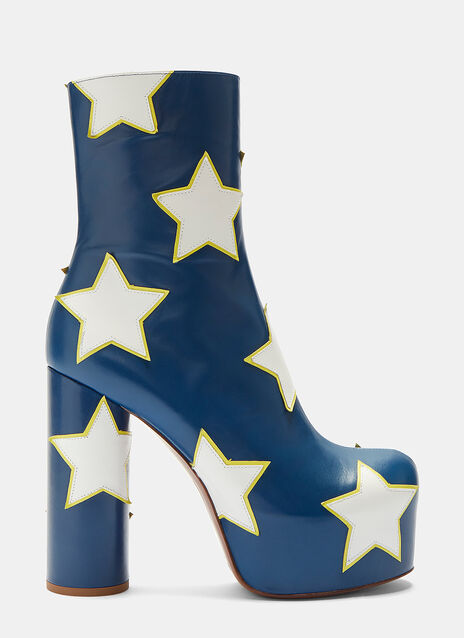 Vetements Star Platform Ankle Boots