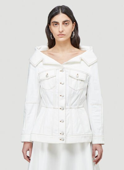 Alexander McQueen Structured Denim Jacket