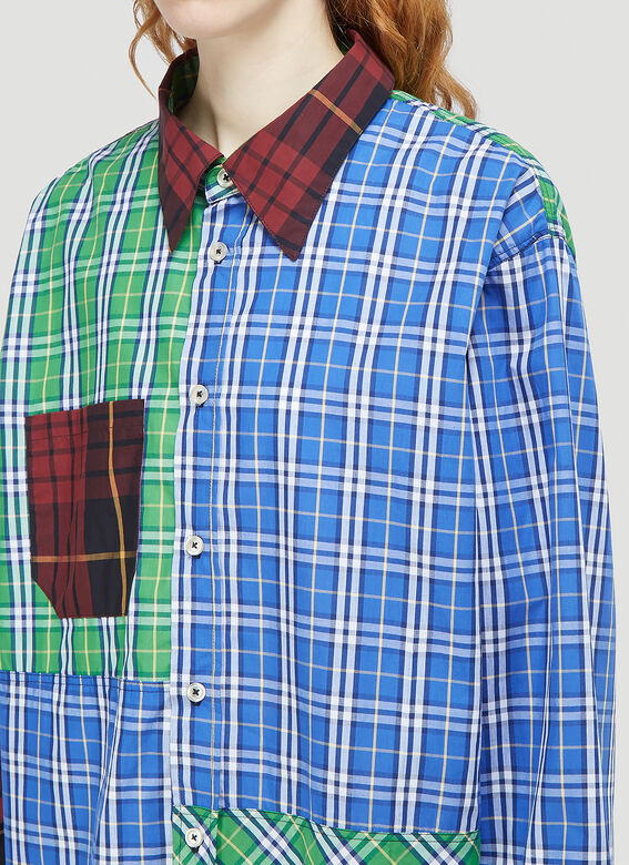 (Di)vision Deadstock Checked Patchwork Shirt 5