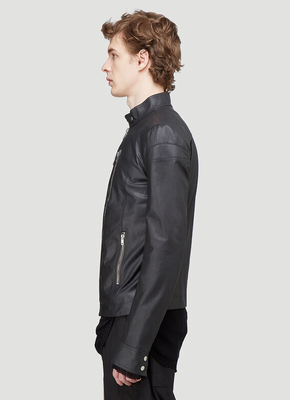 Rick Owens TIES LEATHER JACKET 3