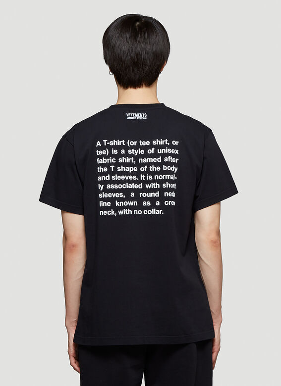 Vetements DEFINITION T-SHIRT R 4